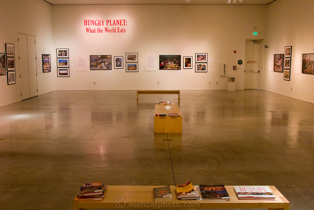 Hungry Planet smaller 60 print traveling exhibit in USA in framed prints behind glass