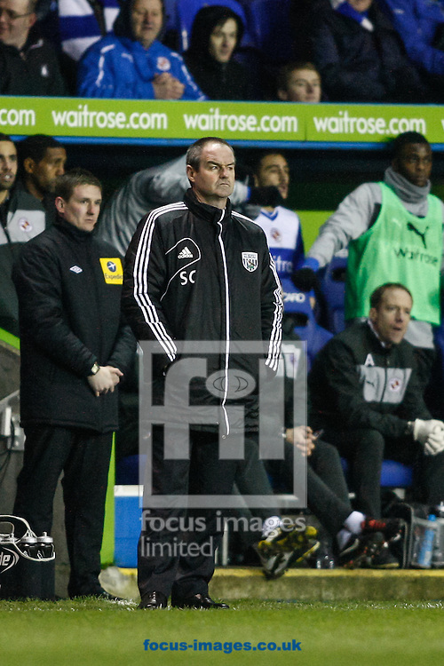 Picture by Andrew Tobin/Focus Images Ltd +44 7710 761829.12/01/2013.West Brom manager Steve Clarke looks on during the Barclays Premier League match at the Madejski Stadium, Reading.