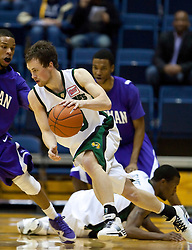 December 29, 2009; Berkeley, CA, USA;  Utah Valley Wolverines guard Eric Dearden (20) during the second half against the Furman Paladins at the Haas Pavilion.  Furman defeated Utah Valley 77-69.