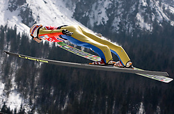 Robert Hrgota of Slovenia competes during Flying Hill Individual Qualifications at 1st day of FIS Ski Flying World Championsghips Planica 2010, on March 18, 2010, Planica, Slovenia.  (Photo by Vid Ponikvar / Sportida)