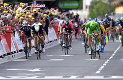 July 12, 2017 - Pau, France - Pau, France - July 12 : KITTEL Marcel (GER) Rider of Quick-Step Floors Cycling team, BOASSON HAGEN Edvald of Dimension Data during stage 11 of the 104th edition of the 2017 Tour de France cycling race, a stage of 203.5 kms between Eymet and Pau on July 12, 2017 in Pau, France, 12/07/2017 (Credit Image: © Panoramic via ZUMA Press)