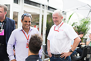 October 19-22, 2017: United States Grand Prix. Juan Pablo Montoya with Daniel Ricciardo (AUS), Red Bull Racing, RB13
