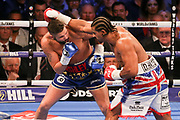 David Haye throws a punch at Tony Bellew at the O2 Arena, London, United Kingdom on 5 May 2018. Picture by Phil Duncan.