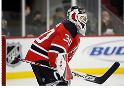 November 8, 2007; Newark, NJ, USA;  New Jersey Devils goalie Martin Brodeur (30) during the first period of the Devils game against the Philadelphia Flyers at the Prudential Center in Newark, NJ.
