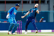 England ODI all rounder Ben Stokes in action  during the 3rd Royal London ODI match between England and India at Headingley Stadium, Headingley, United Kingdom on 17 July 2018. Picture by Simon Davies.