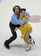 06 Aug 2009: Allie Hann-McCurdy of the Gloucester Figure Skating Club and Michael Coreno of the Vancouver Figure Skating Club skate in the Senior Free Dance at the 2009 Lake Placid Ice Dance Championships in Lake Placid, N.Y.   The couple placed fourth in the event.   © Todd Bissonette