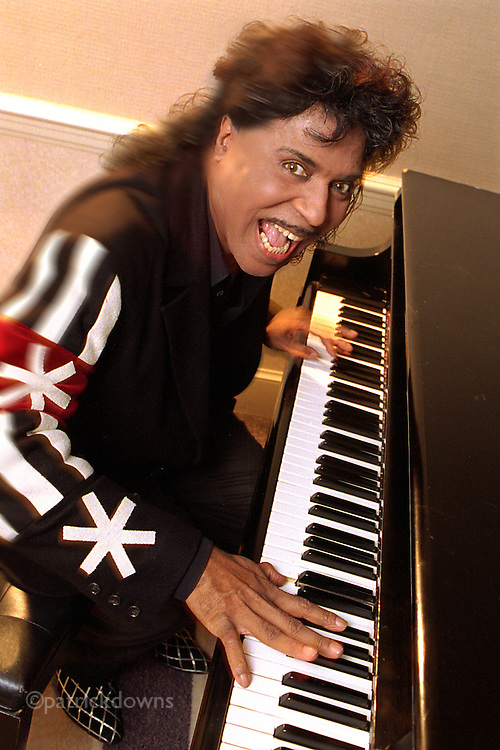 Wild and crazy Little Richard jams on the piano.