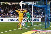 Millwall's Lee Gregory(9) scores a goal 1-3, and celebrates during the EFL Sky Bet League 1 match between Bristol Rovers and Millwall at the Memorial Stadium, Bristol, England on 30 April 2017. Photo by Shane Healey.