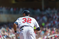 Aaron Hicks #32 of the Minnesota Twins bats against the Seattle Mariners on June 2, 2013 at Target Field in Minneapolis, Minnesota.  The Twins defeated the Mariners 10 to 0.  Photo: Ben Krause