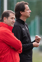 02.06.2018, Woerthersee Stadion, Klagenfurt, AUT, ÖFB Nationalteam, Training, im Bild v.l. Teamchef Franco Foda (AUT), ÖFB Sportdirektor Peter Schöttel, // f.l. Austrian head coach Franco Foda ÖFB sports director Peter Schoettel during a Trainingssession of Austrian National Footballteam at the Woerthersee Stadion in Klagenfurt, Austria on 2018/06/02. EXPA Pictures © 2019, PhotoCredit: EXPA/ Johann Groder
