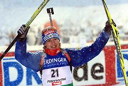 Winner Albina Akhatova (RUS) at Women 15 km Individual at E.ON Ruhrgas IBU World Cup Biathlon in Hochfilzen (replacement Pokljuka), on December 18, 2008, in Hochfilzen, Austria. (Photo by Vid Ponikvar / Sportida)