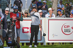 August 23, 2018 - Regina, SK, U.S. - REGINA, SK - AUGUST 23: Lydia Ko (NZL) looks over her tee shot on12 during the CP Women's Open Round 1 at Wascana Country Club on August 23, 2018 in Regina, SK, Canada. (Photo by Ken Murray/Icon Sportswire) (Credit Image: © Ken Murray/Icon SMI via ZUMA Press)