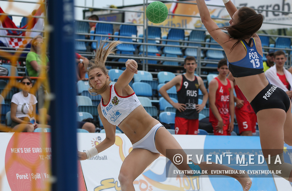 Junior European Beach Handball Championship 2017 in Jarun Beach, Zagreb, Croatia, 16.06.2017. Photo Credit: Søren T. Larsen/Allan Jensen/EVENTMEDIA.
