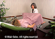 Medical, Doctor, Physician at Work, Female Physician Performs Gynecological Exam Gynecologist, Gynecology