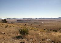 View from Davis Mountains, Ft., Davis, Texas