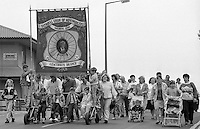 Armthorpe Branch banner. 1990 Yorkshire Miner's Gala. Rotherham.