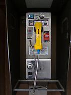 Public telephone at Delacorte Theater in Central Park.