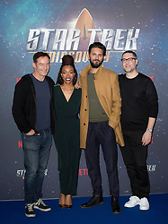 (left to right) Jason Isaacs, Sonequa Martin-Green, Shazad Latif and producer Aaron Harberts attend the Star Trek: Discovery special fan screening photocall at Millbank Tower on Sunday, 5th November..Picture dated: Sunday November 5, 2017. Photo credit should read: Isabel Infantes / EMPICS Entertainment.