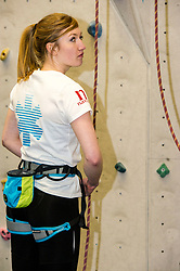 Pictured: Becky Price (year four medical student)<br /> <br /> Medical students from The University of Edinburgh are to study the impact on the body of low oxygen levels found at altitude during a visit to the Bolivian Andes. They were to be put through their paces in a climbing wall training session at the University's Centre for Sport and Exercise.<br /> Ger Harley | EEm 25 April 2017
