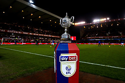The Brian Clough Trophy on a Sky Bet plinth at The City ground ahead of Nottingham Forest v Derby County - Mandatory by-line: Robbie Stephenson/JMP - 25/02/2019 - FOOTBALL - The City Ground - Nottingham, England - Nottingham Forest v Derby County - Sky Bet Championship