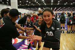 GJNC - July 2018 - Detroit, MI - 11 National finals - SG Elite (black) - OT11 (red) - Photo by Wally Nell/Volleyball USA