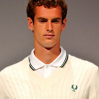 LONDON, ENGLAND - JUNE 15:  Andy Murray launches Fred Perry bespoke Wimbledon Tennis Kit at The Tramshed  on June 15, 2009 in London, England.  (Photo by Marco Secchi/FilmMagic)