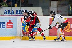 21.02.2016, Ice Rink, Znojmo, CZE, EBEL, HC Orli Znojmo vs Dornbirner Eishockey Club, Qualifikationsrunde, im Bild v.l. Ondrej Sedivy (HC Orli Znojmo) Marek Zagrapan (Dornbirner) // during the Erste Bank Icehockey League Qualification round match between HC Orli Znojmo and Dornbirner Eishockey Club at the Ice Rink in Znojmo, Czech Republic on 2016/02/21. EXPA Pictures © 2016, PhotoCredit: EXPA/ Rostislav Pfeffer