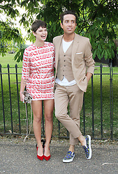© London News Pictures. 26/06/2013. London, UK. Nick Grimshaw and Pixie Geldof, at  The Serpentine Gallery summer party, Kensington Gardens London UK, 26 June 2013, Photo credit: Richard Goldschmidt/LNP
