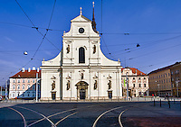BRNO, CZECH REPUBLIC - MARCH 5th 2011: Photo of historic St. Thomas Church in Brno. Brno is the 2nd largest city in the Czech Republic.