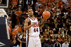 Virginia guard Sean Singletary (44) in action against GT.  The Virginia Cavaliers men's basketball team fell to the Georgia Tech Yellow Jackets 92-82 in overtime at the John Paul Jones Arena in Charlottesville, VA on January 27, 2008.