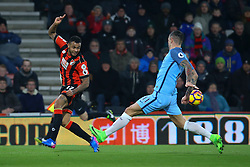 Joshua King of Bournemouth tries to pass the ball into the penalty area - Mandatory by-line: Jason Brown/JMP - 13/02/2017 - FOOTBALL - Vitality Stadium - Bournemouth, England - Bournemouth v Manchester City - Premier League