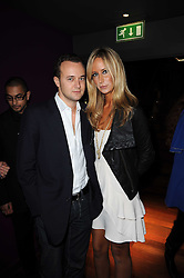 The MARQUESS OF BRISTOL and his sister LADY VICTORIA HERVEY at the Tatler Little Black Book Party held at Chinawhite, 4 Winsley Street, London on 20th November 2009.