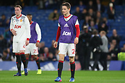 Ander Herrera Midfielder of Manchester United in warm up during the The FA Cup quarter-final match between Chelsea and Manchester United at Stamford Bridge, London, England on 13 March 2017. Photo by Phil Duncan.
