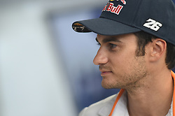 August 9, 2018 - Spielberg, Austria - 26 Spanish driver Daniel Pedrosa of Team Repsol Honda Team  speak with press on Repsol Honda Team Ospitality before Austrian GP weekend in Spielberg, Austria, on August 9, 2018. (Credit Image: © Andrea Diodato/NurPhoto via ZUMA Press)