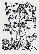 Planetary figure of Mars. From 'Sphaera mundi', Strasburg, 1539.