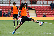 Brentford Midfielder Kamohelo Mokotjo (12) warms up before kick off during the EFL Sky Bet Championship match between Brentford and Ipswich Town at Griffin Park, London, England on 7 April 2018. Picture by Andy Walter.