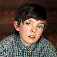 01-04-2008. INS News Agency Ltd<br />Picture by Blake-Ezra Cole<br /><br />Bill Milner, 13 years old, who plays the role of Will in the new movie 'Son of Rambow'.