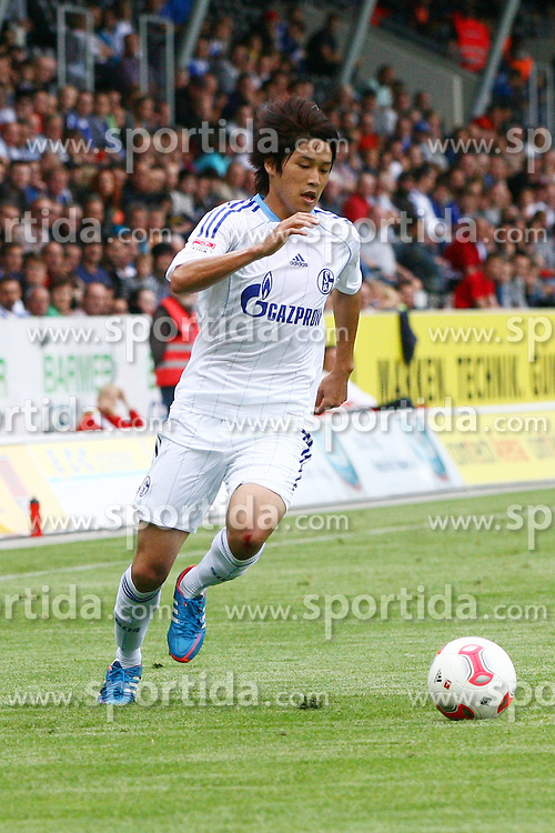 13.07.2012, Comtech Arena, Aspach, GER, Testspiel, SG Grossaspach vs FC Schalke 04, im Bild Atsuto UCHIDA ( FC Schalke 04 ) Freisteller // during a friendly Match between SG Grossaspach and FC Schalke 04 at the Comtech Arena, Aspach, Germany on 2012/07/13. EXPA Pictures © 2012, PhotoCredit: EXPA/ Eibner/ Harry Langer..***** ATTENTION - OUT OF GER *****