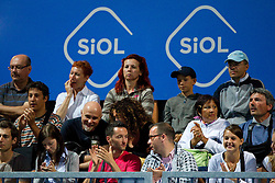 Spectators watching the first semifinal match of Singles at Banka Koper Slovenia Open WTA Tour tennis tournament, on July 24, 2010 in Portoroz / Portorose, Slovenia. (Photo by Vid Ponikvar / Sportida) / SPORTIDA PHOTO AGENCY