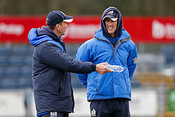 Bristol Rugby Forwards Coach Mark Bakewell and Bristol Rugby First Team Coach Sean Holley - Mandatory byline: Rogan Thomson/JMP - 27/03/2016 - RUGBY UNION - Castle Park - Doncaster, England - Doncaster Knights v Bristol Rugby - Greene King IPA Championship.
