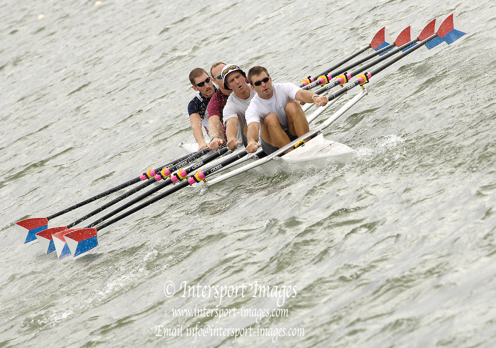 Eton, GREAT BRITAIN,  USA M4X, practice starts. 2006 World Rowing Championships, 16/08/2006.  Photo  Peter Spurrier, © Intersport Images,  Tel +44 [0] 7973 819 551,  email images@intersport-images.com , Rowing Courses, Dorney Lake, Eton. ENGLAND