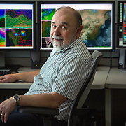 TAKOMA PARK, MD - MAR 14: Geoff DiMego, Chief of the Mesoscale Modeling Branch at the National Weather Service in College Park, Maryland. (Photo by Evelyn Hockstein/For The New York Times)