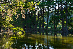 Stock photo of late afternoon along the Frio River in the Texas Hill Country