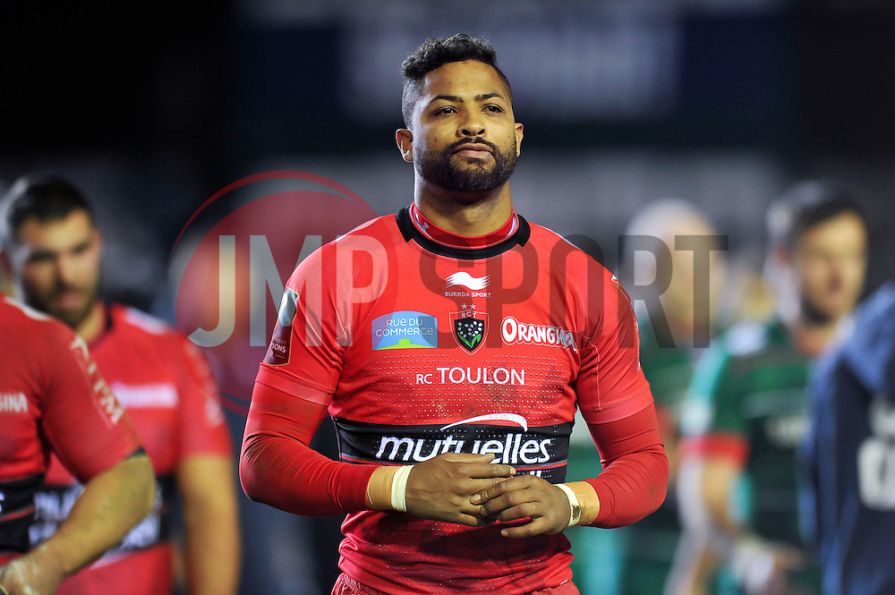 Delon Armitage of Toulon looks dejected as he walks off the field after the match - Photo mandatory by-line: Patrick Khachfe/JMP - Mobile: 07966 386802 07/12/2014 - SPORT - RUGBY UNION - Leicester - Welford Road - Leicester Tigers v Toulon - European Rugby Champions Cup