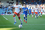 Blackpool defender Michael Nottingham (12) on the ball  during the EFL Sky Bet League 1 match between Peterborough United and Blackpool at The Abax Stadium, Peterborough, England on 29 September 2018.