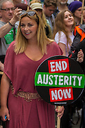 20 June 2015 - Thousands march in National rally against Austerity.