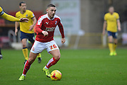 Swindon Town midfielder Anton Rodgers on the attack during the Sky Bet League 1 match between Swindon Town and Scunthorpe United at the County Ground, Swindon, England on 14 November 2015. Photo by Mark Davies.
