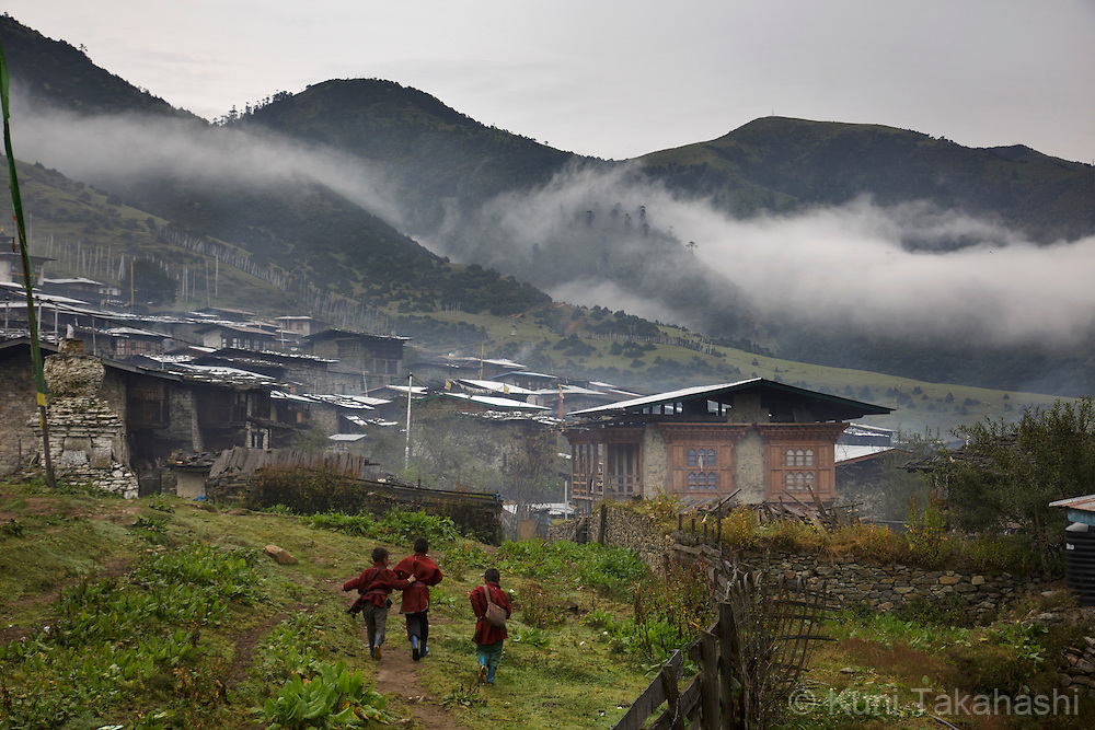 Merak village in eastern Bhutan on Sep 10, 2015. The village is only few places in the country which traditional singing culture remains.<br /> (Photo by Kuni Takahashi)