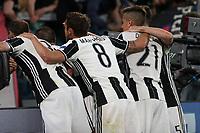 can - 09.05.2017 - Torino - Champions League Semifinale  -  Juventus-Monaco nella  foto: l'esultanza dei giocatori della Juventus
