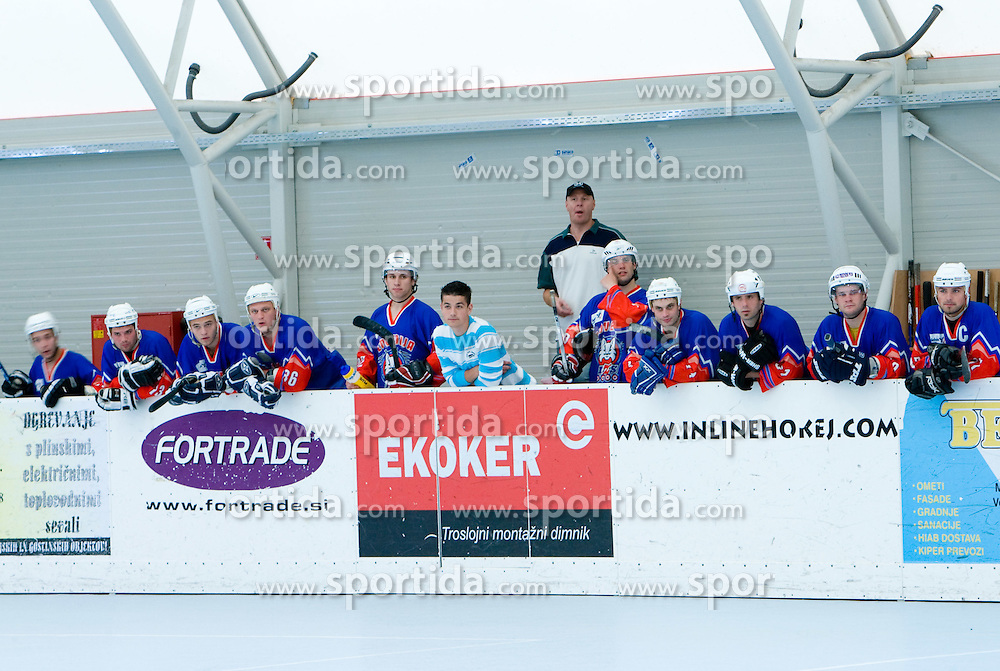 Team Slovenia and coach Bojan Zajc at in-line tournament Horjul Hockey Cup 2009 between National teams of Slovenia and Austria, on May 31, 2009, in Sportni park Horjul, Slovenia. (Photo by Vid Ponikvar / Sportida)